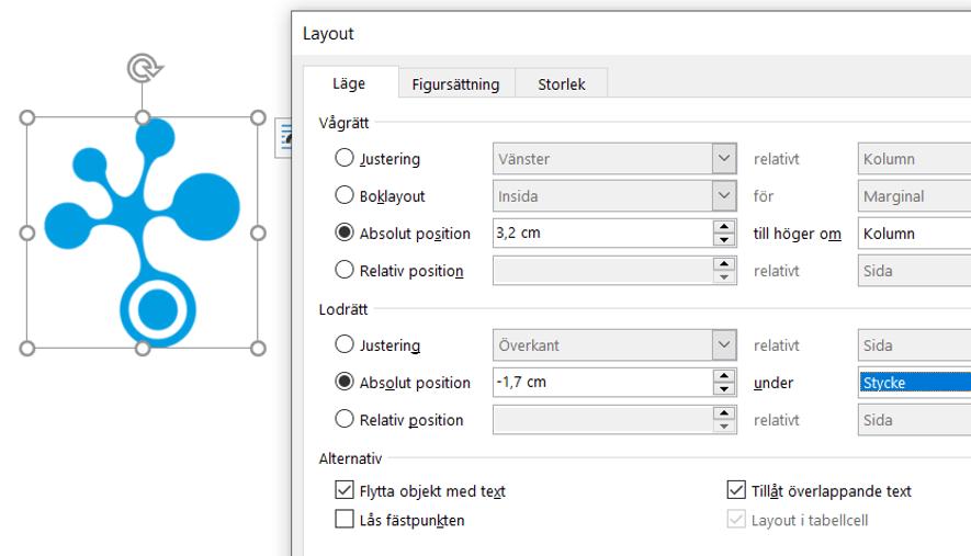 Automatisering av grafisk profil Margins Word