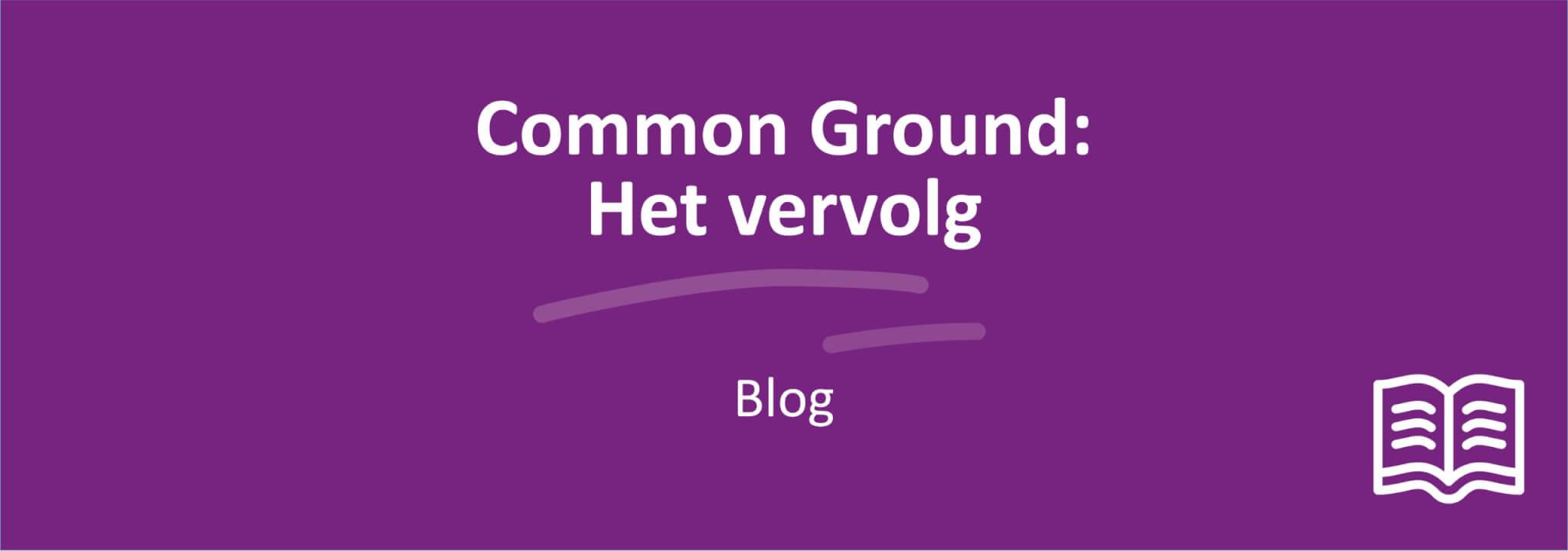 Common ground Vervolg Image