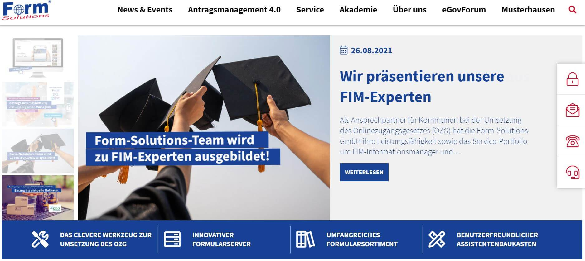 Form Solutions homepage