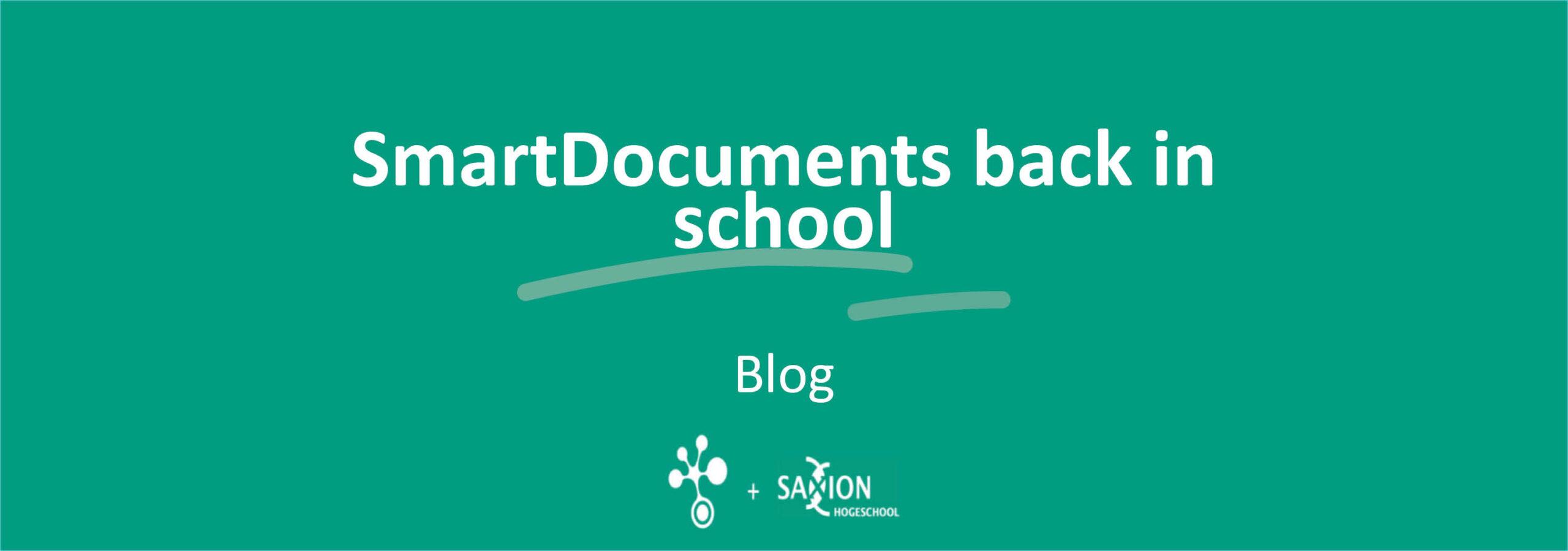 SmartDocuments back in school