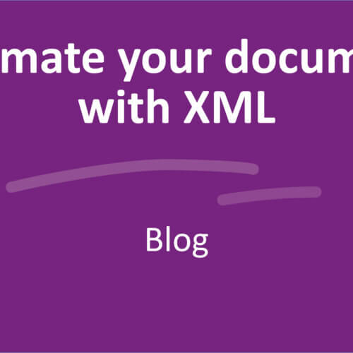 Automate your documents with XML